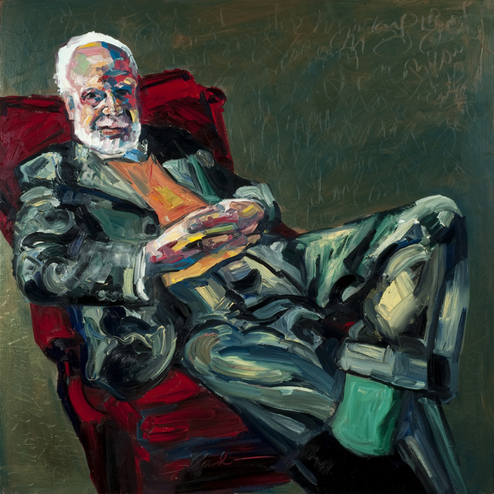 Man With Half A Shoe, Painting by David Slader, Artist