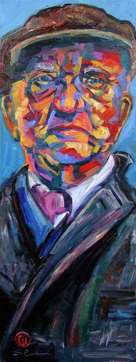 Slowly Dusking Darker, Painting by David Slader, Artist