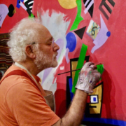 David Slader, artist - in the studio, Art Letter