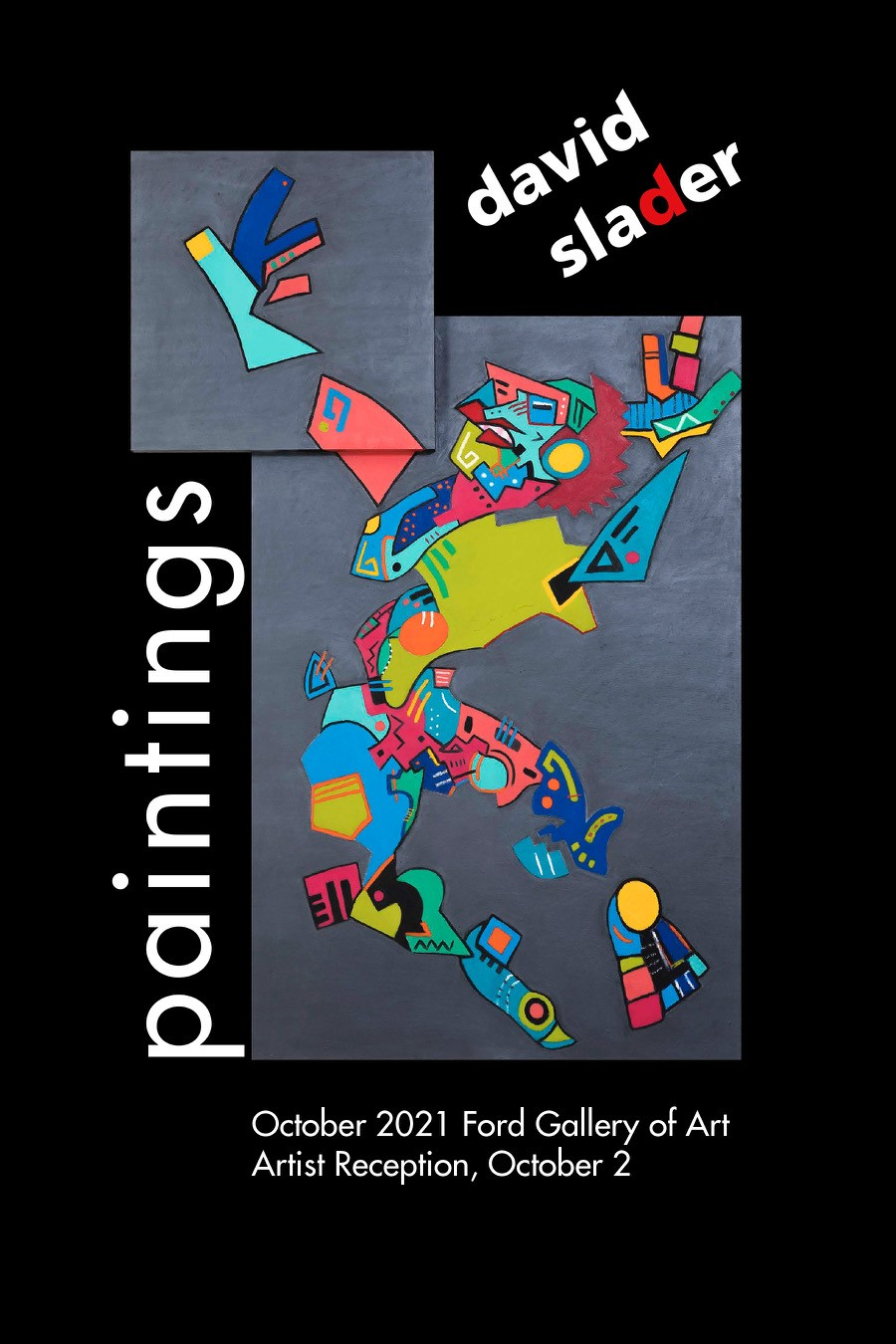 david slader paintings, ford gallery of art, october 2021