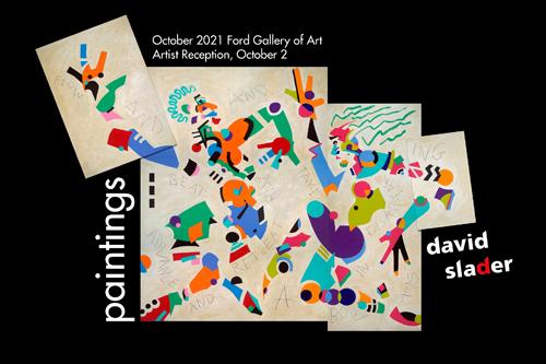 david slader paintings, exhibit, october 2021